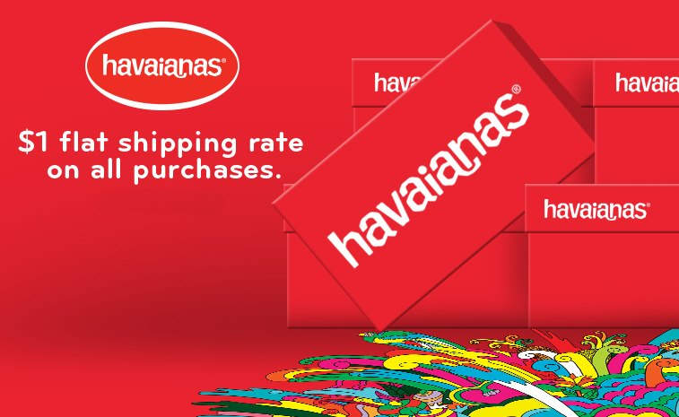 Havaianas Flat Shipping Rate
