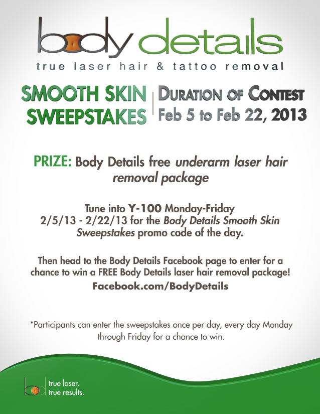 Body Details Smooth Skin Sweepstakes | Enter Everyday Thru February 22, 2013