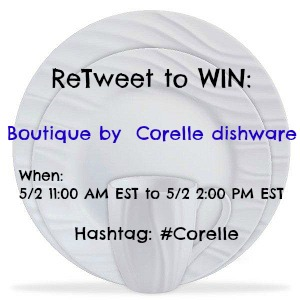 #Corelle Retweet to Win Sweepstakes TODAY ONLY from 11:00 AM EST to 2:00 PM EST