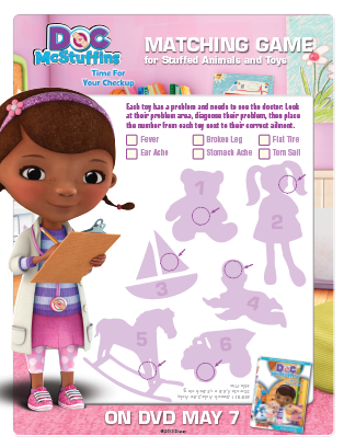 Doc McStuffins NEW Activity Sheets