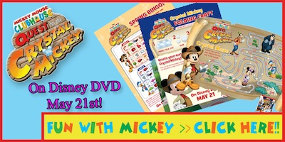 Mickey Mouse Clubhouse The Quest For The Crystal Mickey Activity Sheets