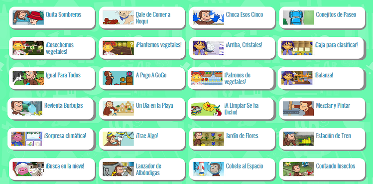 PBS KIDS Launches Over 25 NEW Online Games in Spanish, Featuring the Cat in the Hat, Curious George and Sid the Science Kid!