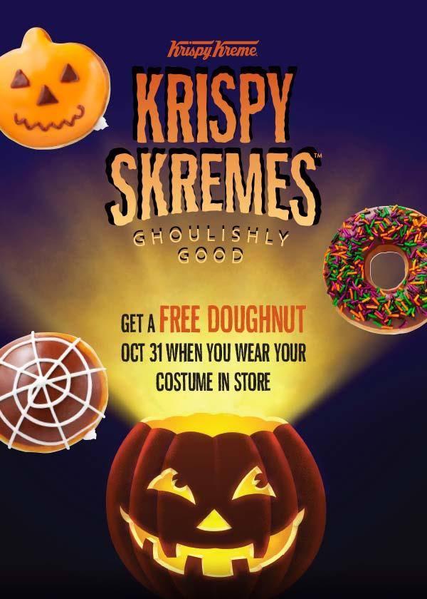 FREE Krispy Kreme Doughnut on Halloween!