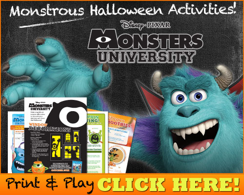 Mike & Sulley's Monstrous Printable Halloween Activities!