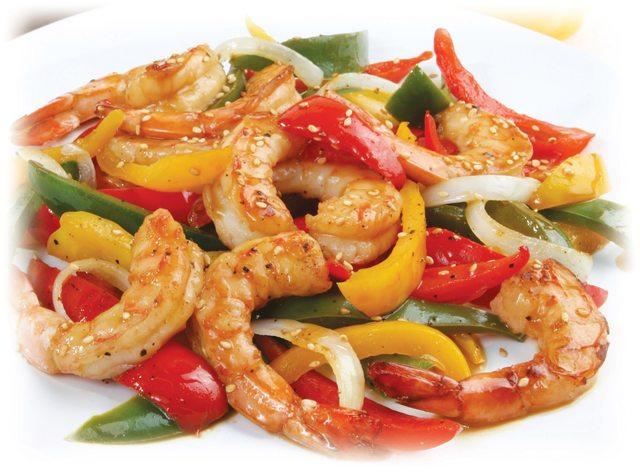 Fresh Florida Shrimp and Sweet Pepper Stir Fry with Honey-Citrus Glaze!