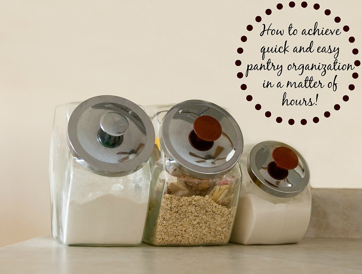 Achieve quick and easy pantry organization in a matter of hours!