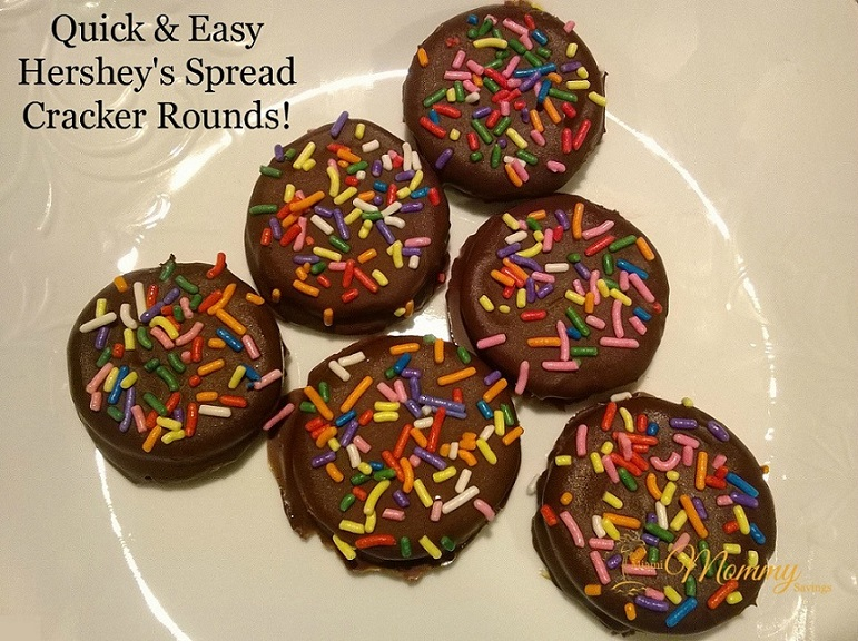 Hershey's Spread Crowdtap Sampling Review + Quick & Easy Hershey's Spread Cracker Rounds Recipe! #crowdtap #SpreadPossibilities