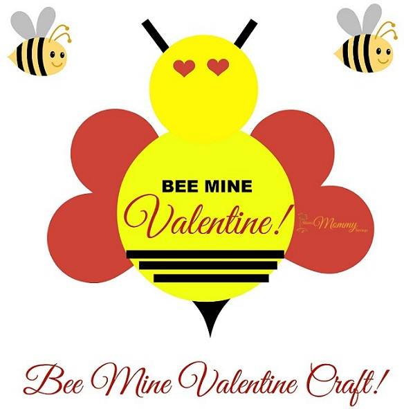photo about Printable Valentine Craft named Bee Mine Valentine Craft + Printable! Cleverly Me - South