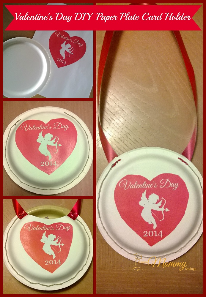 Valentine's Day DIY Paper Plate Card Holder!