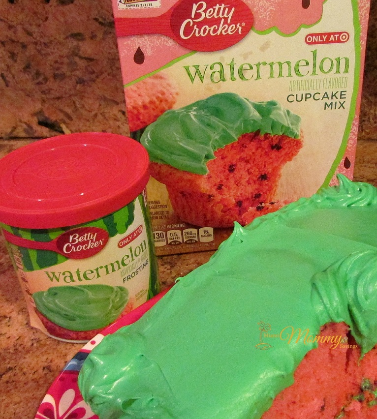 Introducing Betty Crocker Watermelon Cake & Frosting! #BiteIntoSummer