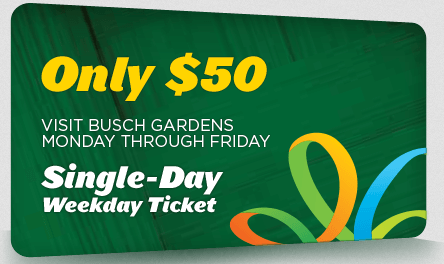 Seaworld 50th celebration 50 weekday tickets available for Bush gardens tickets