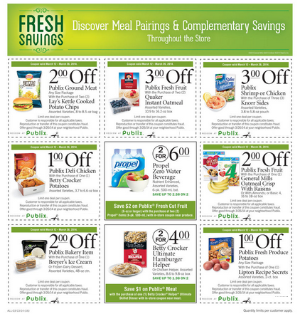 Publix March Fresh Savings Going on Through March 19, 2014! #MarchFreshSavings #PlatefullCoOp #spon