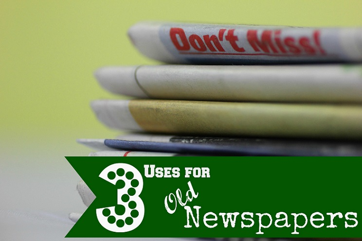 3 uses for Old Newspapers!