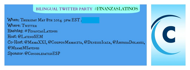 Financial Education Among Latino Families Twitter Party! #FinanzasLatinos