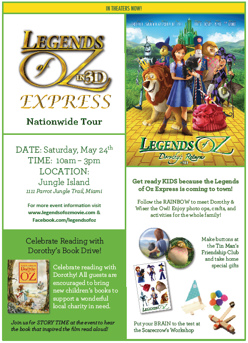 "The ""LEGENDS OF OZ EXPRESS"" is Coming to Miami This Weekend! @JungleIsland @LegendsOfOz"