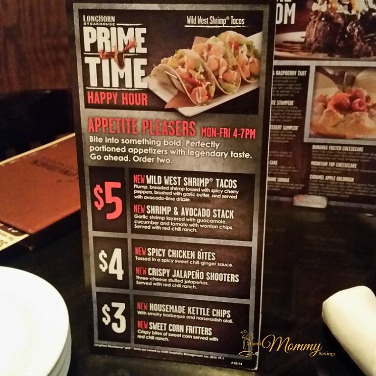 Longhorn steakhouse prime time menu review lhprimetime