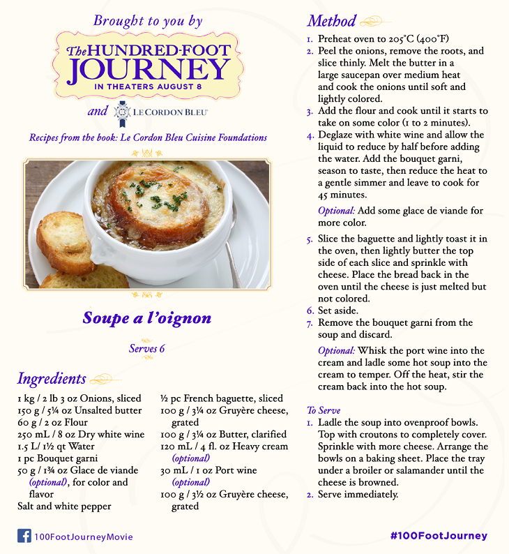 DreamWorks Pictures' The Hundred-Foot Journey: French Onion Soup Recipe, in Theaters August 8, 2014! #100FootJourney