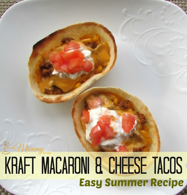 Kraft Macaroni & Cheese Tacos Easy Summer Recipe! #ComidasFaciles #Shop