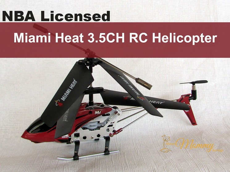 Summer Fun with NBA Licensed World Tech Toys Miami Heat 3.5CH RC Helicopter!