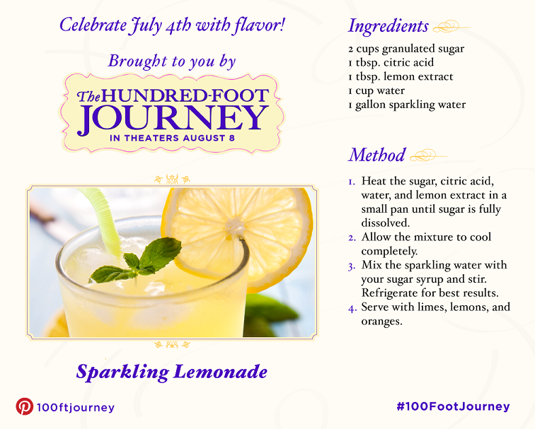 DreamWorks Pictures' The Hundred-Foot Journey: 4th of July Recipes! #100FootJourney