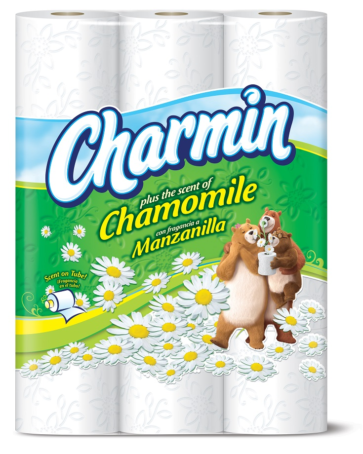 Chamomile bathroom makeover with new charmin tissue