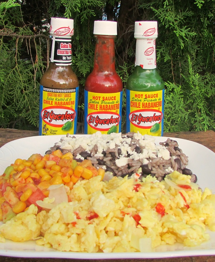 El-Yucateco-Rice-&-Beans-Spicy-Eggs-and-Spicy-Summer-Salad-with-product-Miami-Mommy-Savings