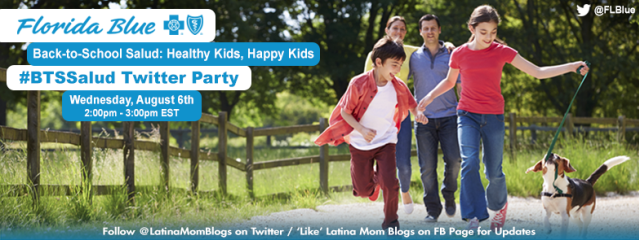 Join us for the Back to School Salud Healthy Kids, Happy Kids #BTSSalud Bilingual Twitter Party!