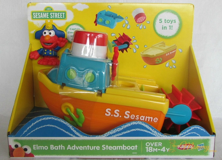 Playskool-Sesame-Street-Elmo-Bath-Adventure-Steamboat-Toy-Miami-Mommy-Savings