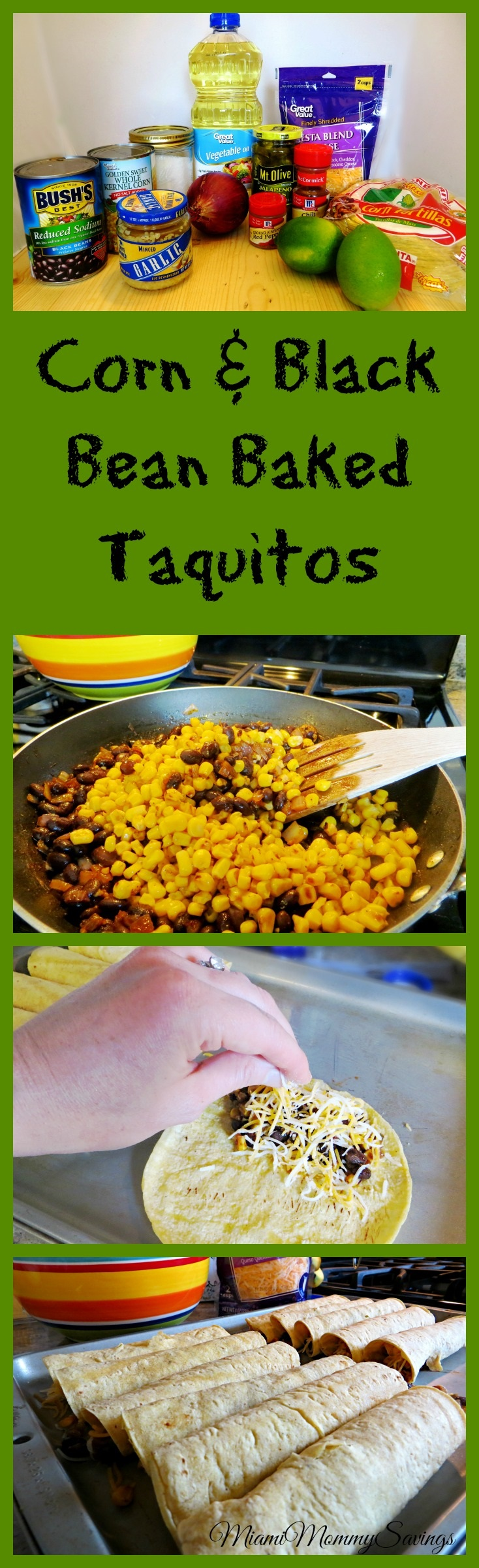 Try this Corn and Black Bean Baked Taquitos recipe your family will ...