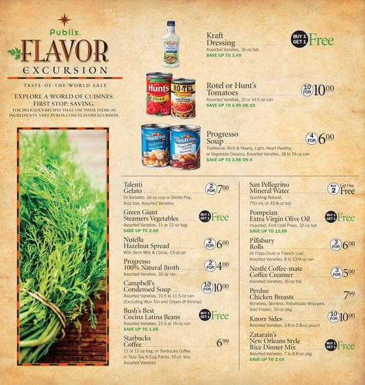 Publix Flavor Excursion Through September 17, 2014