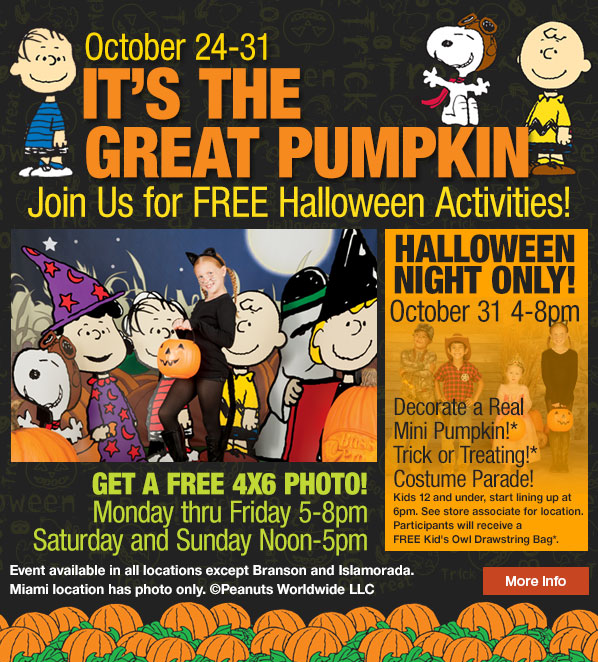 Bass Pro Shops: It's The Great Pumpkin Free Halloween Events Through October 31, 2014!