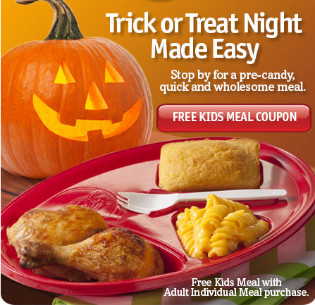 Boston Market Free Kids meal with adult meal purchase 2014