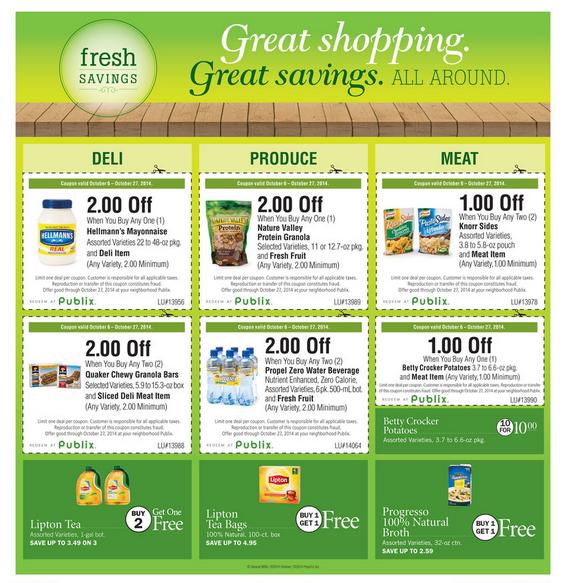 Celebrate October Fresh Savings at Publix October 2014 Image 2
