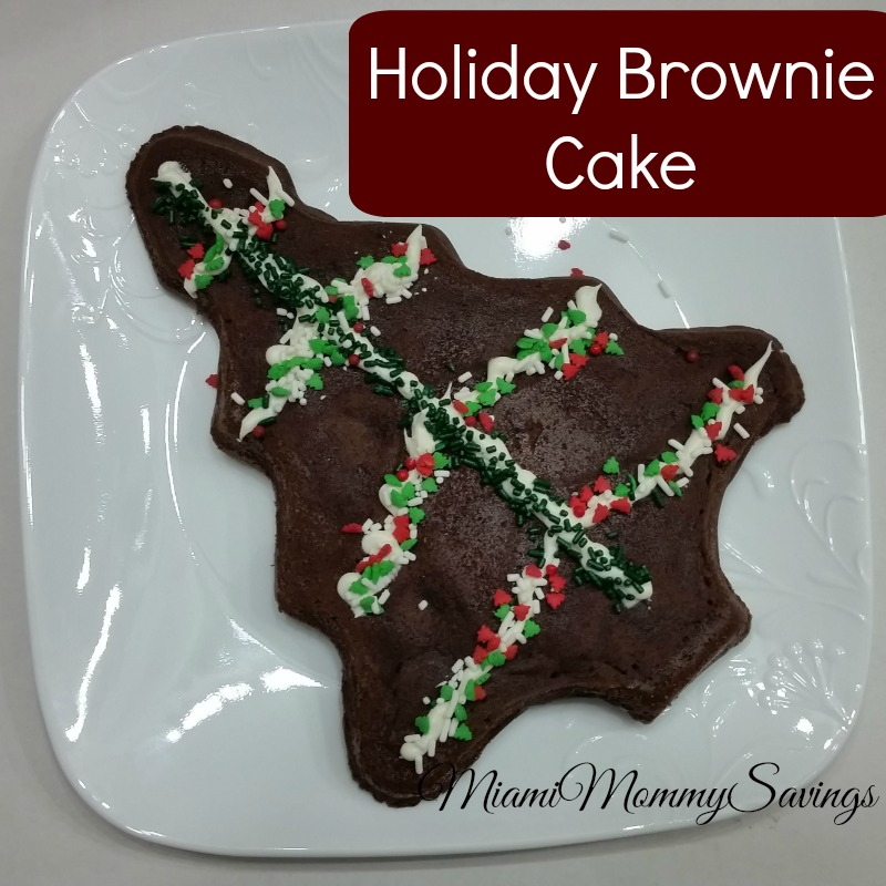 Holiday Baking with Betty Crocker: Holiday Brownie Cake! #BettyCrockerBakeCenter