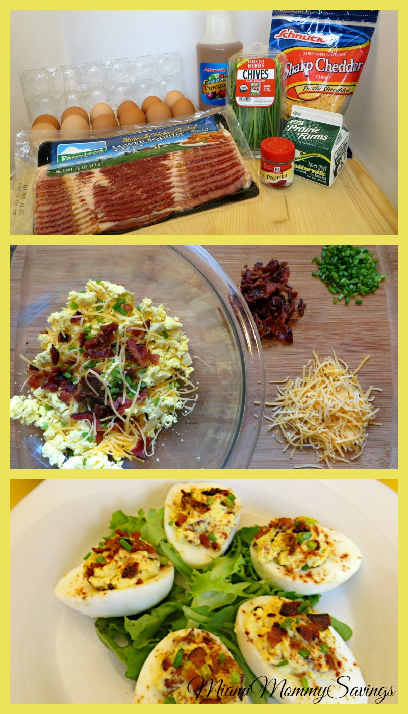 Celebrate the season with this extremely versatile Loaded Deviled Eggs Recipe. Get the recipe at CleverlyMe.com
