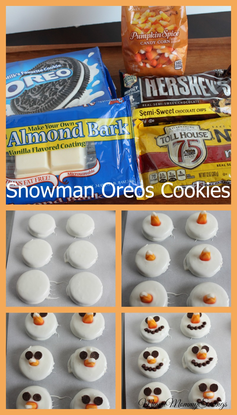 These cute Snowman Oreos Cookies are so easy to make and a cute treat for the Holidays. Plus a Kid Friendly Dessert. Grab the recipe at CleverlyMe.com