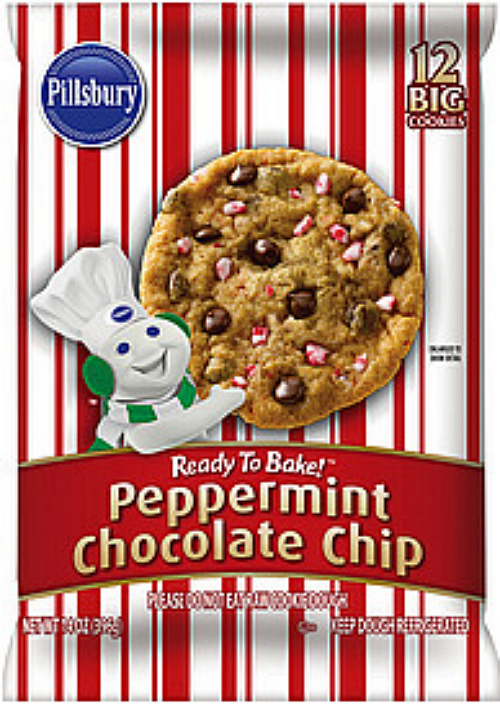 Pillsbury Ready to Bake™ Peppermint Chocolate Chip Cookies