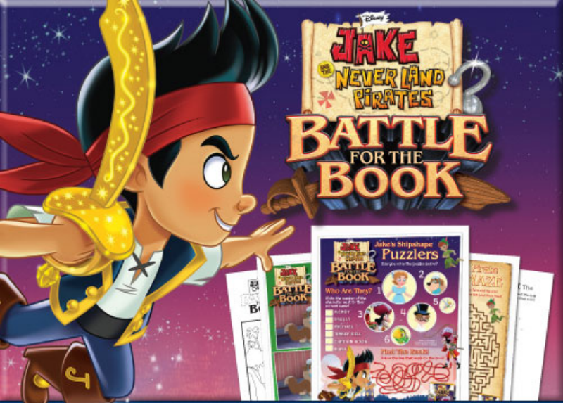Jake and the Neverland Pirates Battle for the Book Printable Activity Sheets