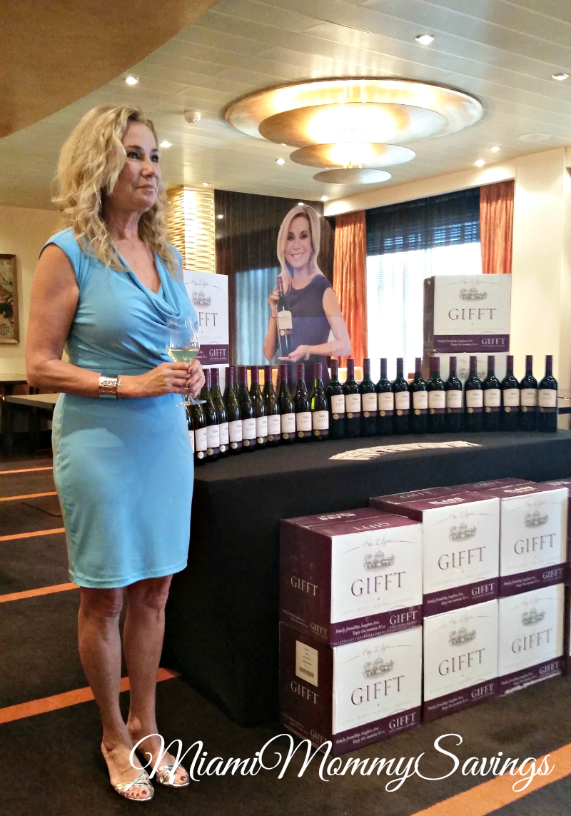 Kathie Lee Gifford GIFFT wines debut on Carnival Ships!