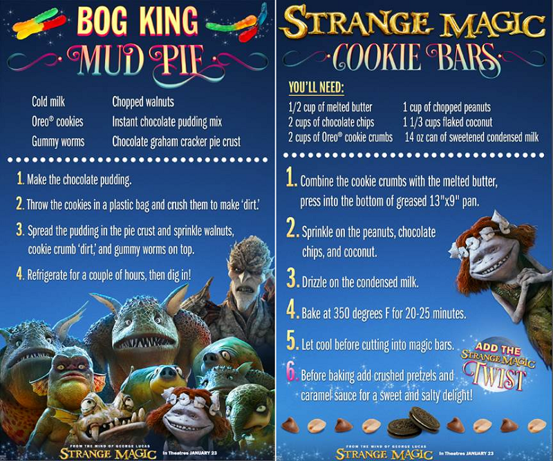 STRANGE MAGIC Recipes! #StrangeMagic
