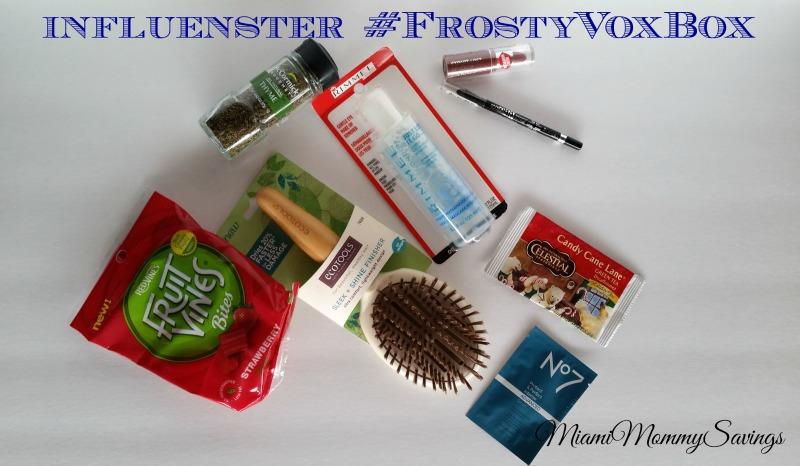 @influenster #FrostyVoxBox @InfluensterVox #Rimmel #GetADVANCED #SugarPlum #CelestialTea #LoveMyEcoHairBrush #McCormickGourmet #SweetSide