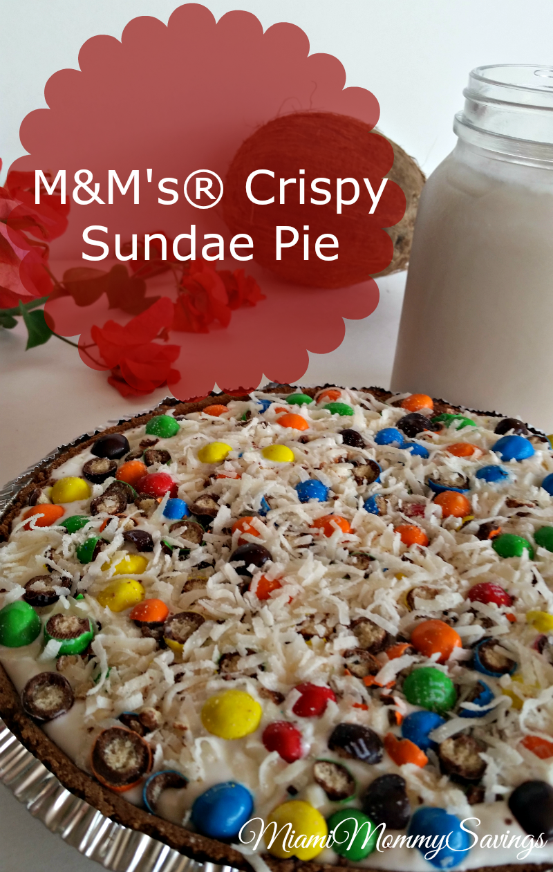 M&M's®-Crispy-Sundae-Pie-Recipe-Miami-Mommy-Savings