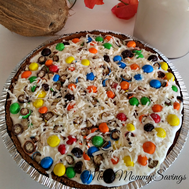 M&M's®-Crispy-Sundae-Pie-Recipe-Whole-Pie-Miami-Mommy-Savings