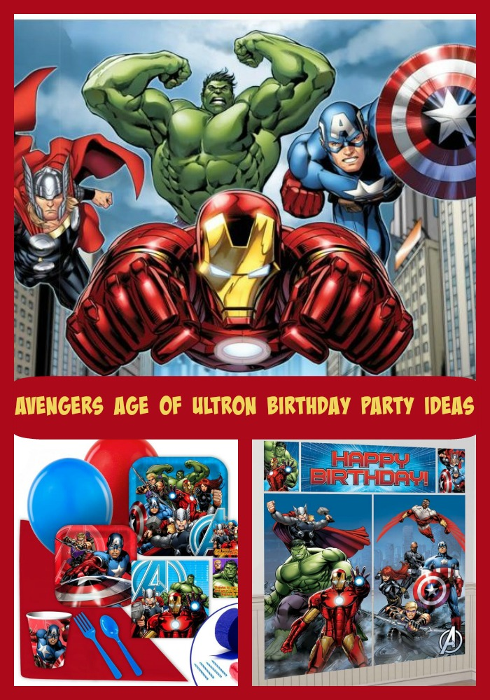 Avengers Age of Ultron Birthday Party Ideas