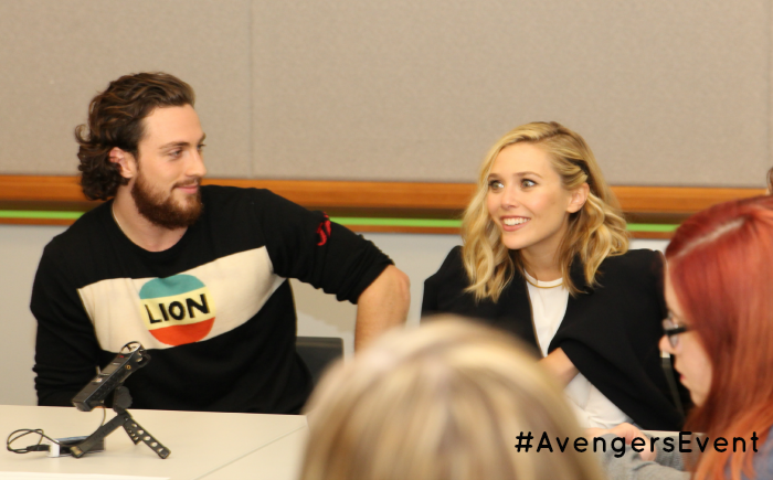 Exclusive Interview with Elizabeth Olsen (Scarlet Witch) & Aaron Taylor-Johnson (Quicksilver), more at MiamiMommySavings.com