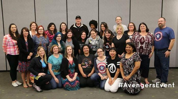 Kevin Feige #AvengersEvent Group Pic, more at MiamiMommySavings.com