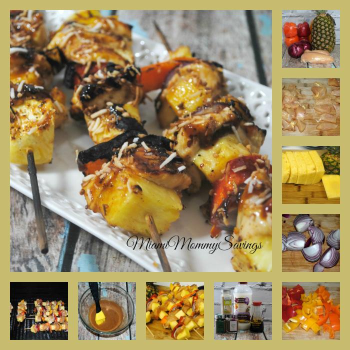 Pina Colada Chicken Kabobs Recipe for more easy & delicious recipes visit MiamiMommySavings.com
