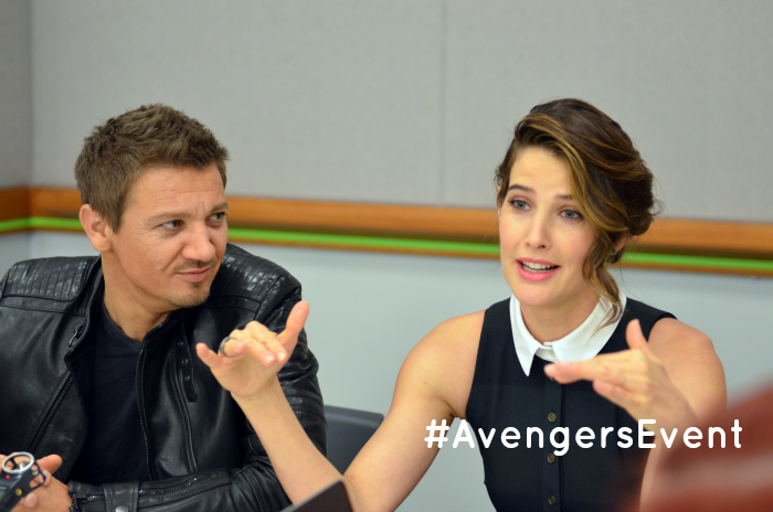 Exclusive Interview with Jeremy Renner & Cobie Smulders 2 #AvengersEvent