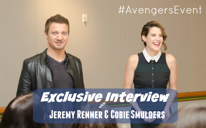 Exclusive Interview with Jeremy Renner & Cobie Smulders #AvengersEvent