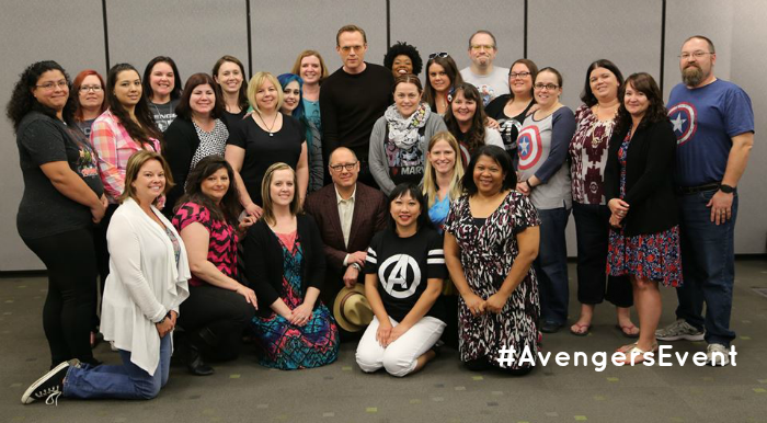 James-Spader-&-Paul-Bettany-#AvengersEvent-Group-Pic
